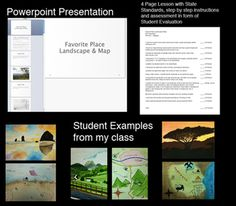Landscape Watercolor Lesson that includes a 30 page presentation in PowerPoint format as well as PDF format. It includes the 6 ways to create space in your painting as well as a step by step example and student and professional examples.    A four page lesson plan that includes state standards, materials, step by step process and a student evaluation for assessment. $