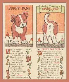 Puppy Dog spool toy card