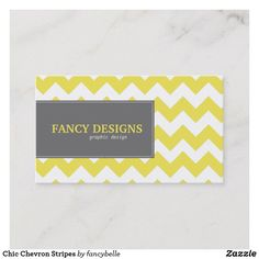 Shop Chic Chevron Stripes Business Card created by fancybelle.