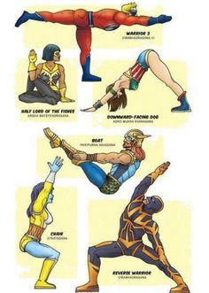 superhero yogis!