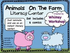 Farm Animal Comics Instant Literacy Center (6 comics)