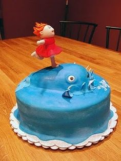 Amazingly cute Ponyo cake, who made it? I want to know how to make one!!!!!!!!!!!!!!!!!!
