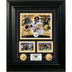 Pittsburgh Steelers Ben Roethlisberger 18'' x 22'' Marquee Gold Coin Photo Mint - Limited Edition of 500 - $149.99