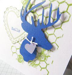 Deer Heart Card - #MFTStamps Color Challenge 14