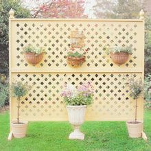Build a portable, multipurpose lattice screen for your garden.