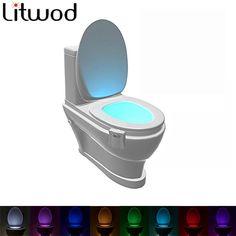 8 ألوان أدى المرحاض أطفال ضوء الليل ضوء الليل طفل الحركة المنشط السيارات استشعار الحركة الصمام ضوء مصباح عاء يلة أضواء