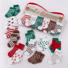 """""""The 12 Days of Christmas"""" Holiday Baby Socks Gift Set"""