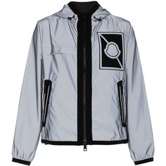 Moncler C X Craig Green rain jacket (76,385 INR) ❤ liked on Polyvore featuring men's fashion, men's clothing, men's outerwear, men's jackets, grey, moncler mens jacket, mens grey jacket and mens gray leather jacket