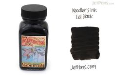 Noodler's Eel Black Ink - 3 oz Bottle - NOODLERS 19207 If your pen or converter has a sticky piston, a dose of Eel Black will get it working smoothly again. For pens with excessively dry, rough, or skip-prone nibs, a permanent regimen of Eel Black can make them write more smoothly and consistently.   per Jet Pens