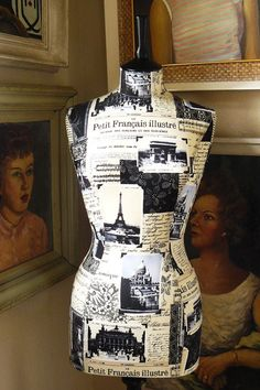 Petit Francais Mannequin Dressform Display Form - Giselle by Corset Laced Mannequin - http://www.etsy.com/shop/CorsetLacedMannequin