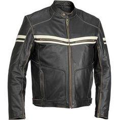 River Road Hoodlum Vintage Leather Jacket - Motorcycle Superstore