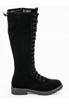 Čierne čižmy so šnúrovaním Seastar Combat Boots, Platform, Outfit, Shoes, Fashion, Outfits, Moda, Zapatos, Shoes Outlet