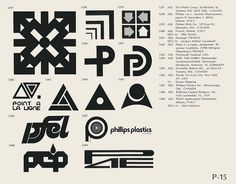 Eric Carl Collection of vintage logos from a edition of the book World of Logotypes jpg Logos Id Design, Logo Design, Graphic Design, Brand Design, Toronto, Trademark Symbol, Logo Luxury, Brand Symbols, Logo Shapes