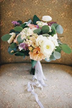 Watercolor French Provincial wedding inspiration | Photo by Live View Studios | Read more - http://www.100layercake.com/blog/?p=80233