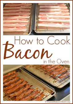Cooking bacon in the oven is a simple way to cook a whole package at once and you won't have grease splattered all over your kitchen.  ~ How to Cook Bacon in the Oven