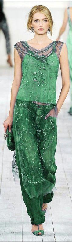 Green - Ralph Lauren Spring 2015