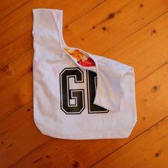 Netball Personalised Initials Shoe Bag Kids kit bib post net goal attack centre