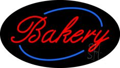 Cursive Red Bakery Animated Neon Sign 17 Tall x 30 Wide x 3 Deep, is 100% Handcrafted with Real Glass Tube Neon Sign. !!! Made in USA !!!  Colors on the sign are Red and Blue. Cursive Red Bakery Animated Neon Sign is high impact, eye catching, real glass tube neon sign. This characteristic glow can attract customers like nothing else, virtually burning your identity into the minds of potential and future customers.