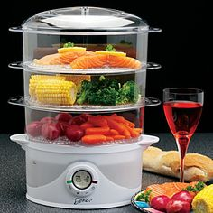 Electric Food Steamer- perfect for cooking healthy MRC meals.#kitoutyourkitchen