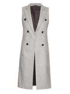 RAG & BONE Faye double-breasted wool-blend vest