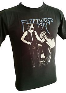 Fleetwood Mac Men T-Shirt Rock Punk Metal Retro Vintage black stonewashed R-091