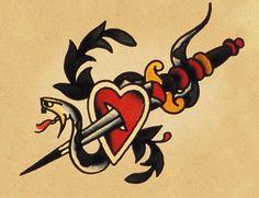 vintage-snake-tattoo-design