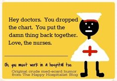 What happens at your hospital when a chart is dropped?