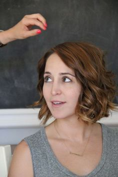 Great video on how to style short hair with beach waves