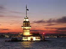 Leander Tower, Istanbul - The World is Not Enough If you look close you can also spot the tower in the boat scene from in From Russia With Love