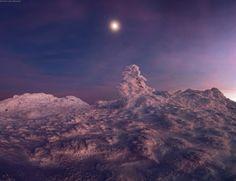 Luna sobre Crimea.