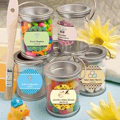 Design Your Own Mini Paint Can Baby Shower Favor Tin