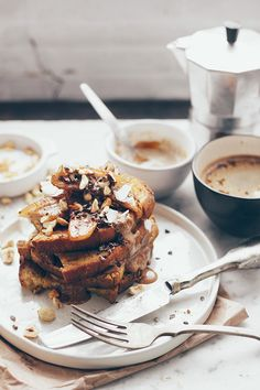 caramelized banana vegan french toast