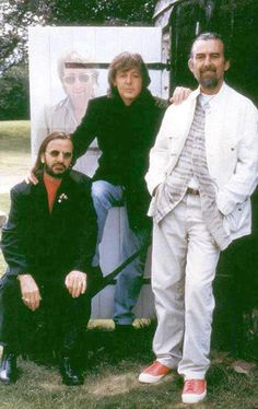 From the Real Love/Free as a Bird sessions, the three remaining Beatles in 1995