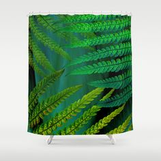 Fern Shower Curtain by ALLY COXON | Society6