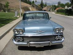 From this time comes this beautiful Chevrolet Biscayne from Agoura Hills, California, United States 1958 Chevy Impala, Cars For Sale, Chevrolet, Muscle, American, Nice, Creative, Classic, Model