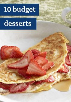 10 Budget Desserts – You know desserts can be pricey, but they don't have to be—especially not when you're making them with care at home. Here with a collection of budget-friendly treats, like chocolate covered cakes and fruit-topped creations, these recipe ideas will keep your wallet full and your will definitely be enjoyed by friends and family.