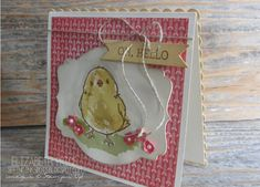 handmade greeting card from Seeing Ink Spots ... little chick ... luv all of the details on this card ...