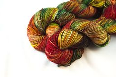 Fall colors are pretty any time of year! https://www.etsy.com/listing/539969220/hand-dyed-yarn-variegated-yarn-warm