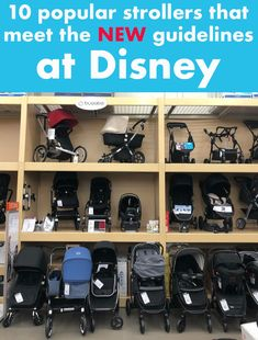 Ten popular strollers that meet the new Walt Disney World and Disneyland stroller guidelines, and five that surprisingly don't!