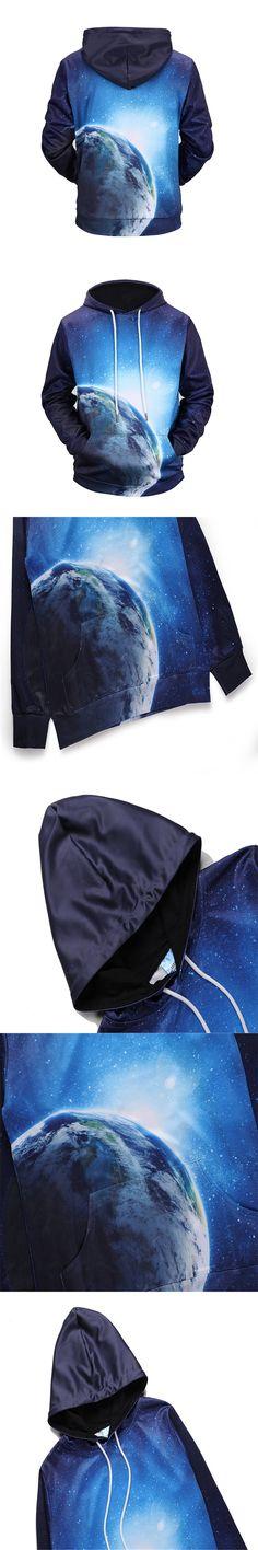 New Fashion Brand Hoodies Men/Women 3d Sweatshirts Print Space Sky globe Hoodie Unisex Pullovers Hoody Tracksuits