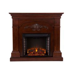 251 First Wellington Mahogany Electric Fireplace   Bellacor Faux Fireplace, Fireplace Mantels, Standing Fireplace, Mantle, Furniture Decor, Furniture Sets, Portable Fireplace, Wall Mount Electric Fireplace, Electric Fireplaces