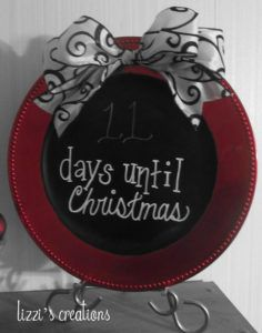DIY Christmas plate - DIY Projects for Making Money - Big DIY Ideas