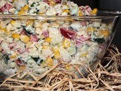 Makaronowa sałatka do grilla Polish Recipes, Tortellini, Pasta Salad, Potato Salad, Side Dishes, Grilling, Food And Drink, Vegetables, Cooking