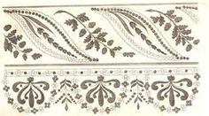 Embroidery design from The Lady's Magazine 1816-1818