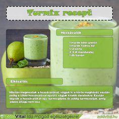 Így készíthetsz te is egy fiom körtés zöldturmixot #zöldturmix #recept Cantaloupe, Smoothies, Minden, Fruit, Drinks, Food, Beverages, Essen, Smoothie