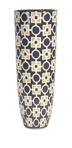 Classic and Lovely Multi Graphite Geometric Pattern Vase Home Decor Imax 87691 | Furniture, home decor, wall decor, rugs, lamps, lighting outlet.