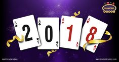 DiamondRummy wishing you a very Happy New Year!  The best way to start a new year is by Playing Rummy Online to win cash.#NewYear2018