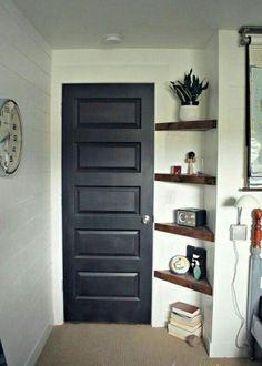 Corner Shelf #shelf #entrance #corner