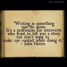 John Greene quote on introverted writers
