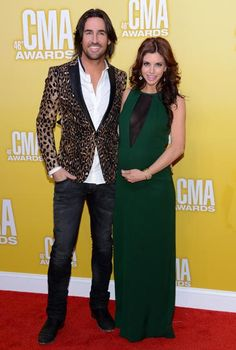 Soon-to-be parents Jake Owen and Lacey Owen at the 2012 CMA Awards